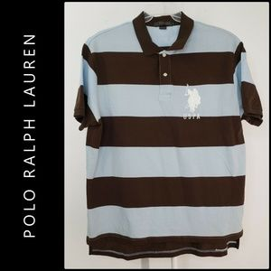 US Polo Assn. Men Short Sleeve Stripe Polo Shirt
